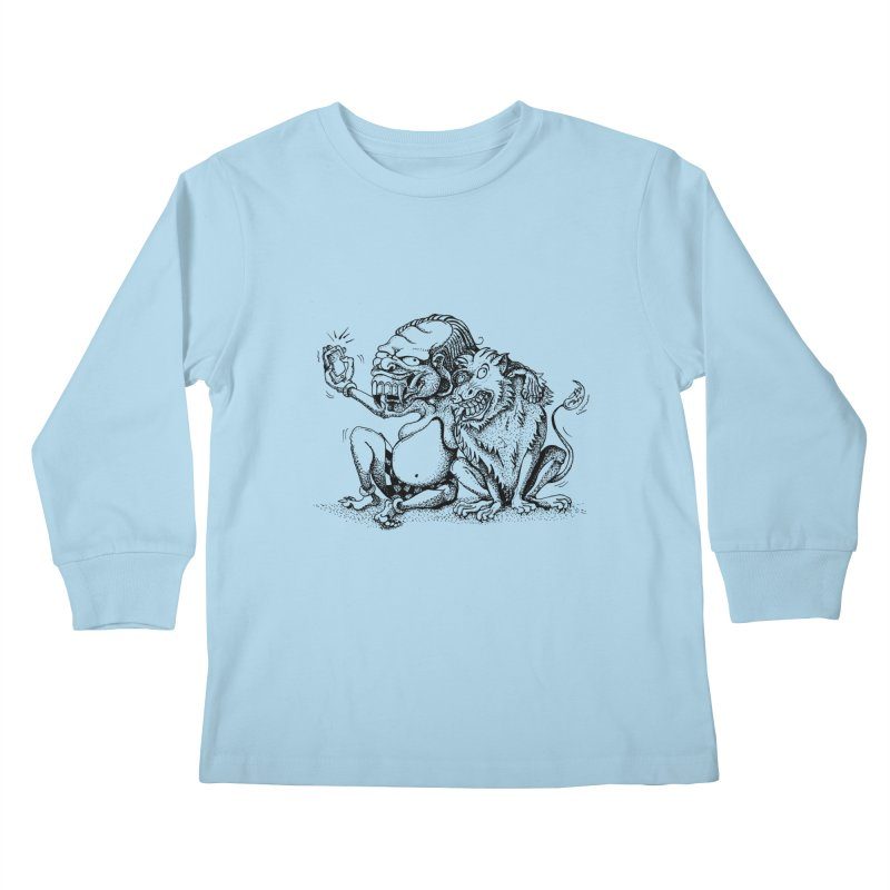 Celuluk Leo Kids Longsleeve T-Shirt by DuMBSTRaCK CLoTH iNK PROJECT