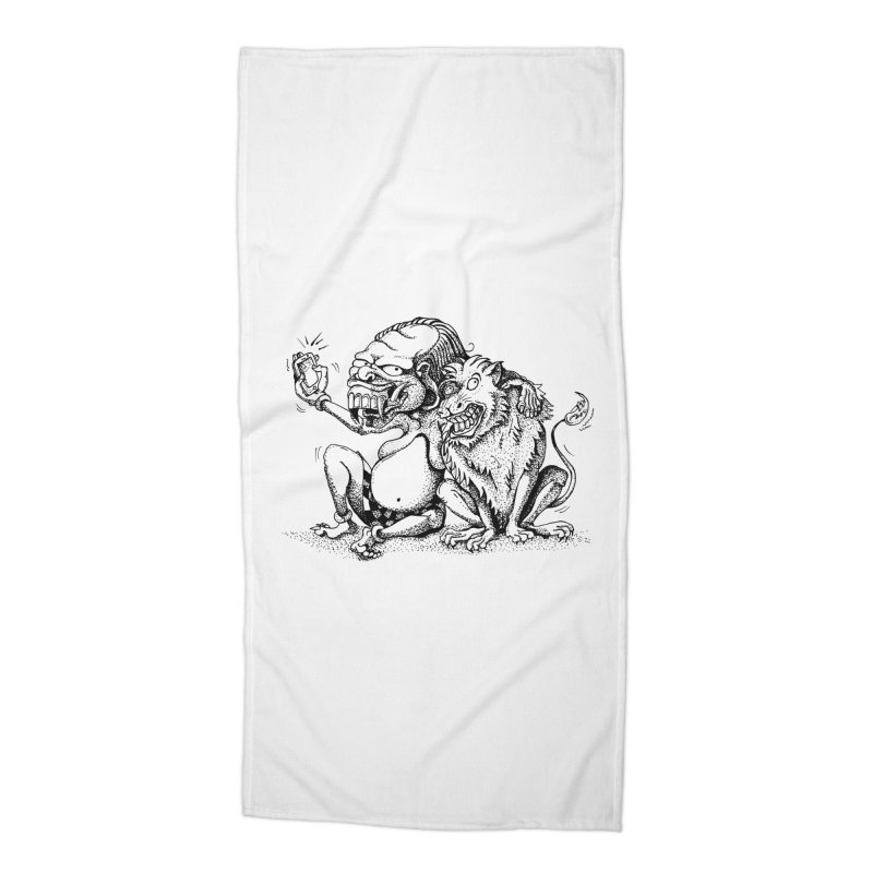 Celuluk Leo Accessories Beach Towel by DuMBSTRaCK CLoTH iNK PROJECT