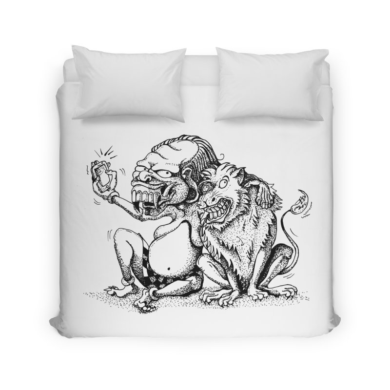 Celuluk Leo Home Duvet by DuMBSTRaCK CLoTH iNK PROJECT