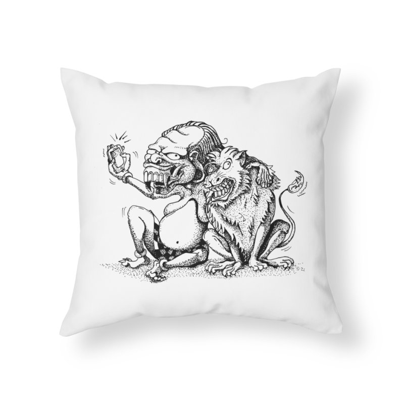 Celuluk Leo Home Throw Pillow by DuMBSTRaCK CLoTH iNK PROJECT