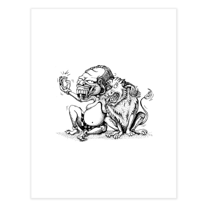 Celuluk Leo Home Fine Art Print by DuMBSTRaCK CLoTH iNK PROJECT