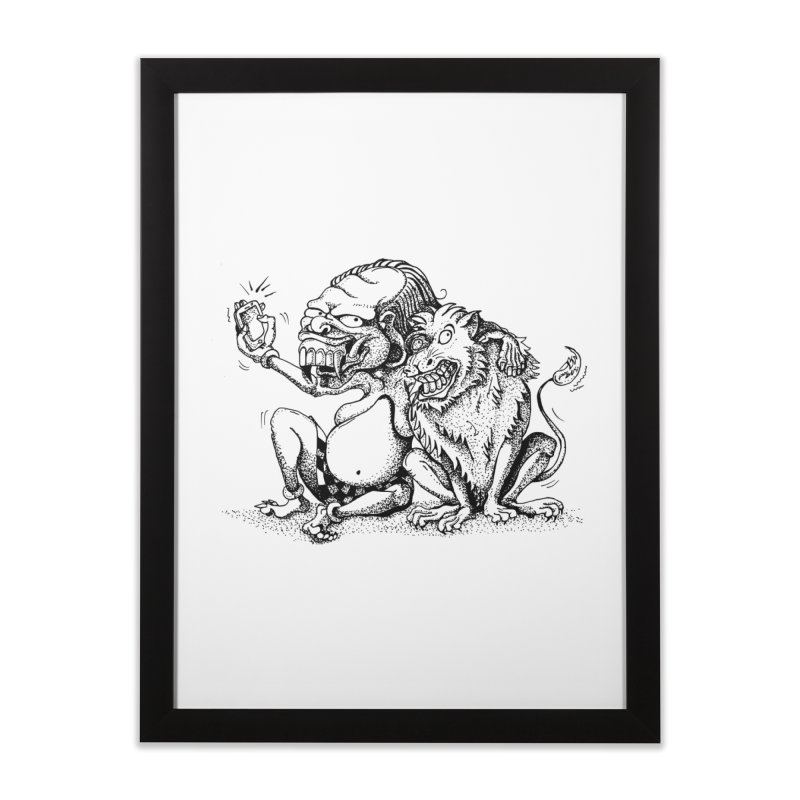Celuluk Leo Home Framed Fine Art Print by DuMBSTRaCK CLoTH iNK PROJECT