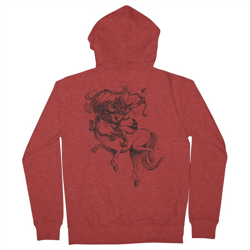 Celuluk Sagitarius Men's French Terry Zip-Up Hoody by DuMBSTRaCK CLoTH iNK PROJECT