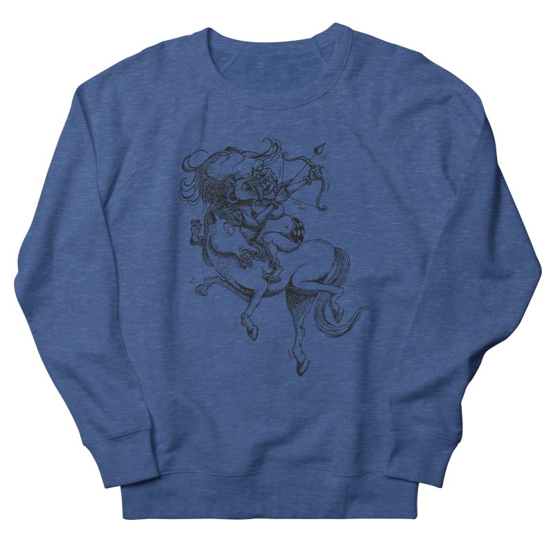 Celuluk Sagitarius Women's French Terry Sweatshirt by DuMBSTRaCK CLoTH iNK PROJECT