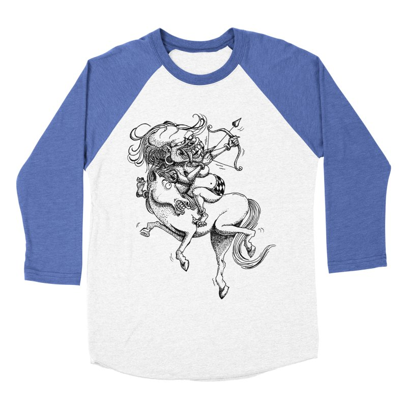 Celuluk Sagitarius Women's Baseball Triblend Longsleeve T-Shirt by DuMBSTRaCK CLoTH iNK PROJECT