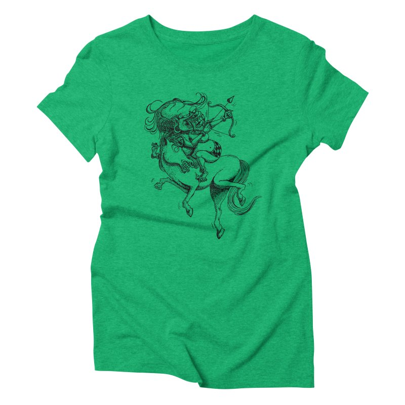 Celuluk Sagitarius Women's Triblend T-Shirt by DuMBSTRaCK CLoTH iNK PROJECT