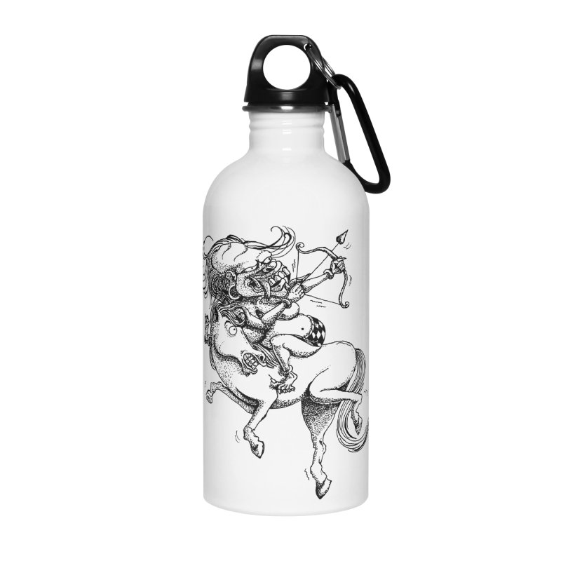 Celuluk Sagitarius Accessories Water Bottle by DuMBSTRaCK CLoTH iNK PROJECT