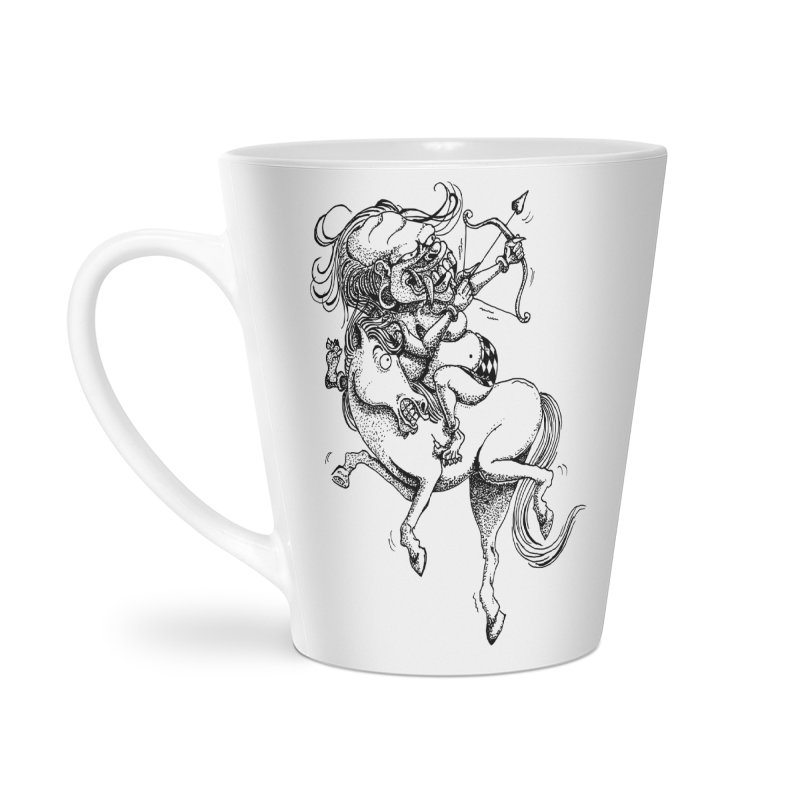 Celuluk Sagitarius Accessories Latte Mug by DuMBSTRaCK CLoTH iNK PROJECT