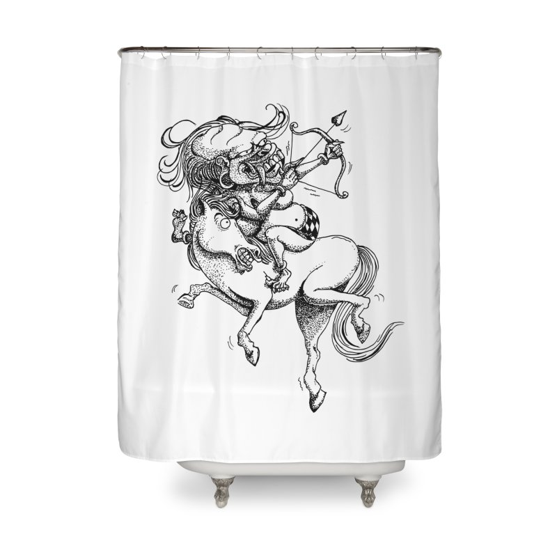 Celuluk Sagitarius Home Shower Curtain by DuMBSTRaCK CLoTH iNK PROJECT