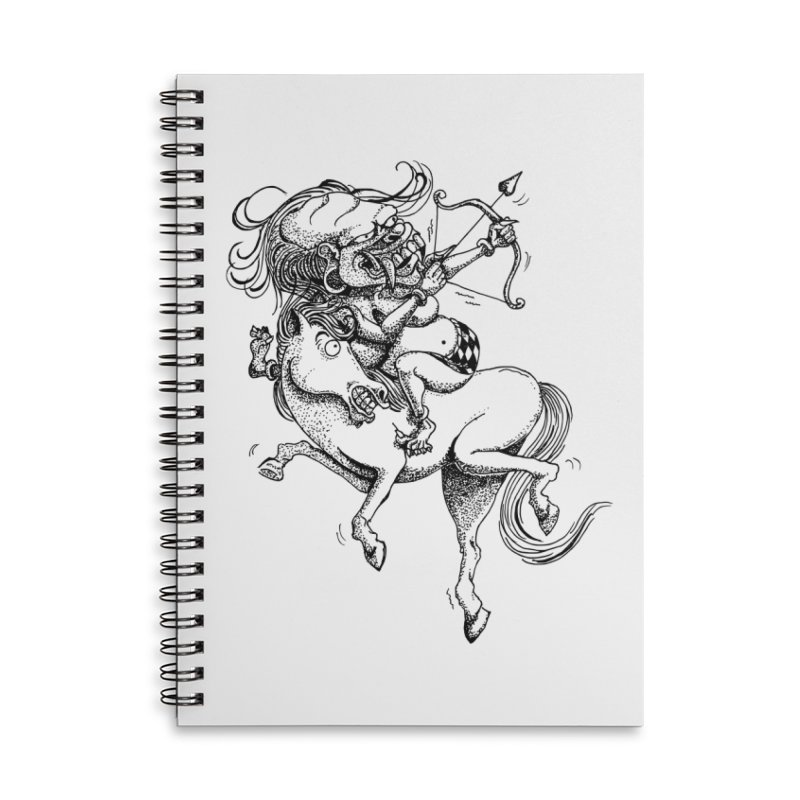 Celuluk Sagitarius Accessories Lined Spiral Notebook by DuMBSTRaCK CLoTH iNK PROJECT