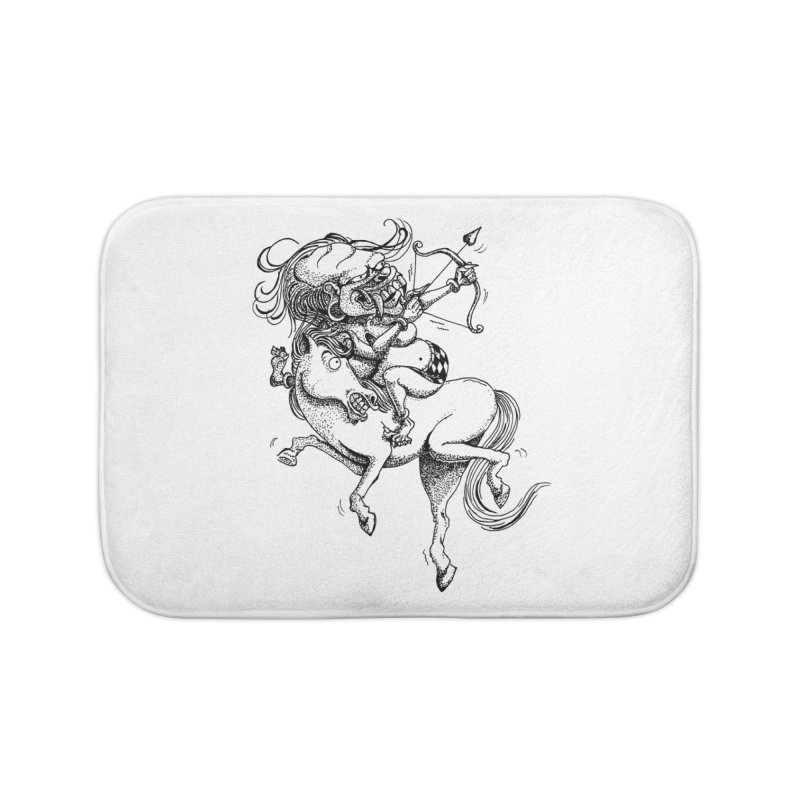 Celuluk Sagitarius Home Bath Mat by DuMBSTRaCK CLoTH iNK PROJECT