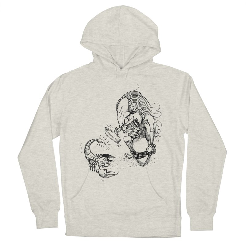 Celuluk Scorpio Women's French Terry Pullover Hoody by DuMBSTRaCK CLoTH iNK PROJECT