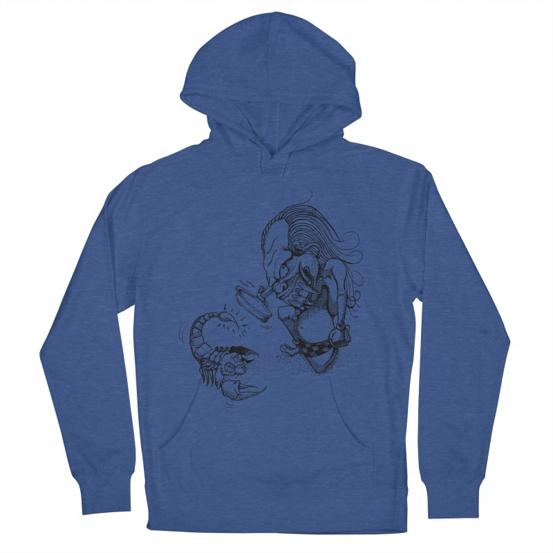 Celuluk Scorpio Men's French Terry Pullover Hoody by DuMBSTRaCK CLoTH iNK PROJECT