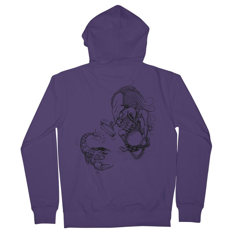 Celuluk Scorpio Women's French Terry Zip-Up Hoody by DuMBSTRaCK CLoTH iNK PROJECT
