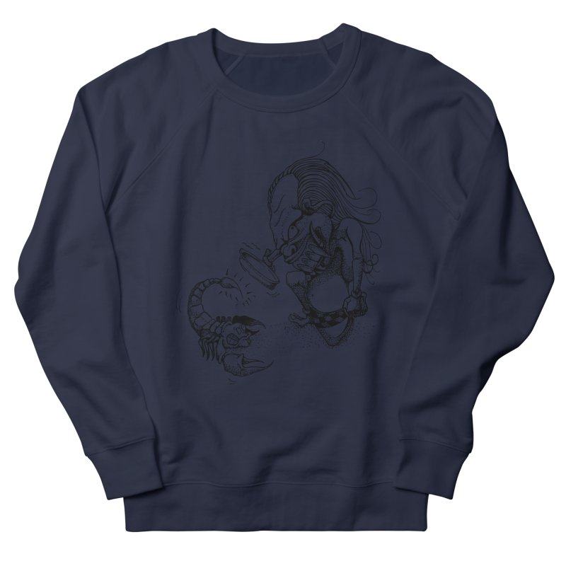 Celuluk Scorpio Men's French Terry Sweatshirt by DuMBSTRaCK CLoTH iNK PROJECT