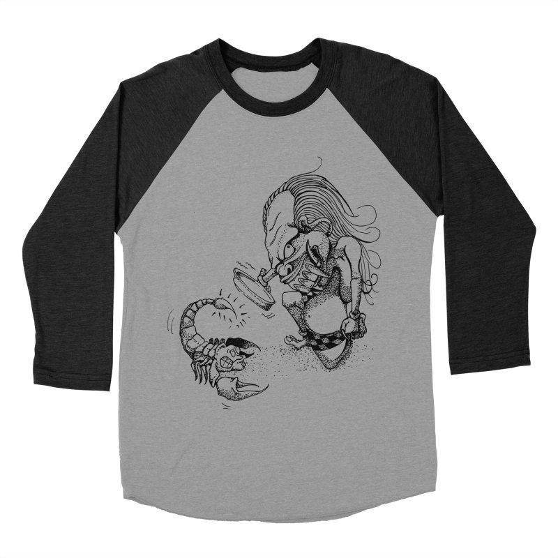 Celuluk Scorpio Women's Baseball Triblend Longsleeve T-Shirt by DuMBSTRaCK CLoTH iNK PROJECT