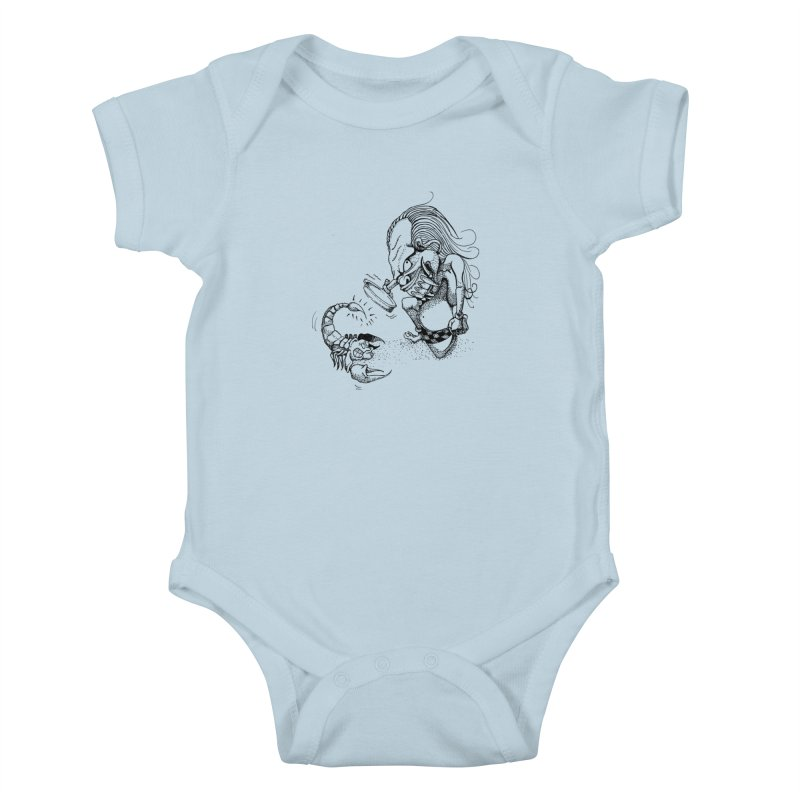 Celuluk Scorpio Kids Baby Bodysuit by DuMBSTRaCK CLoTH iNK PROJECT