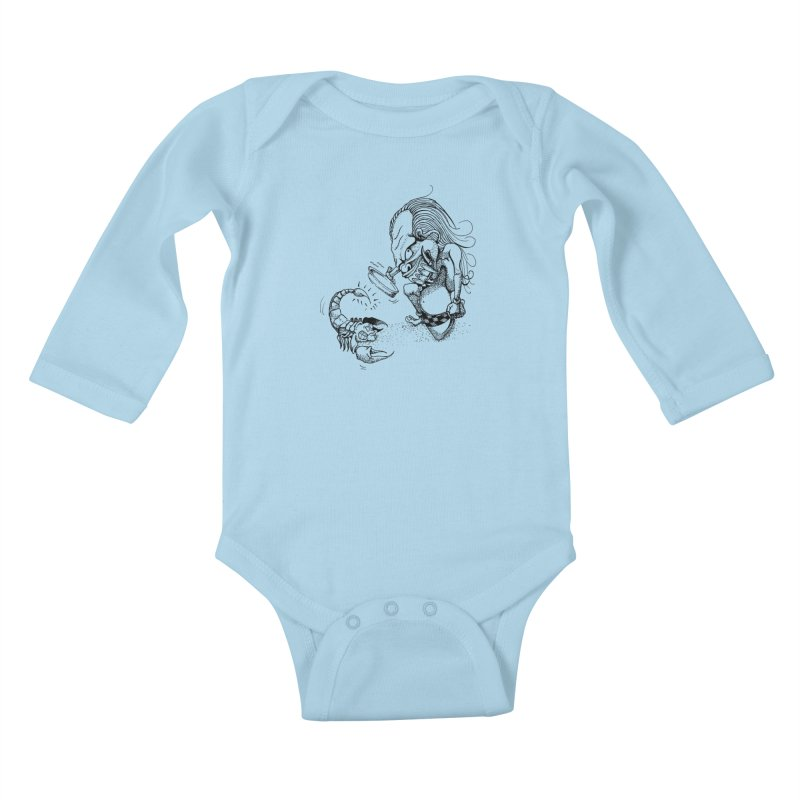 Celuluk Scorpio Kids Baby Longsleeve Bodysuit by DuMBSTRaCK CLoTH iNK PROJECT