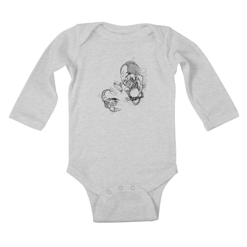 Celuluk Scorpio Kids Baby Longsleeve Bodysuit by DuMBSTRaCK CLoTH iNK PROJECT