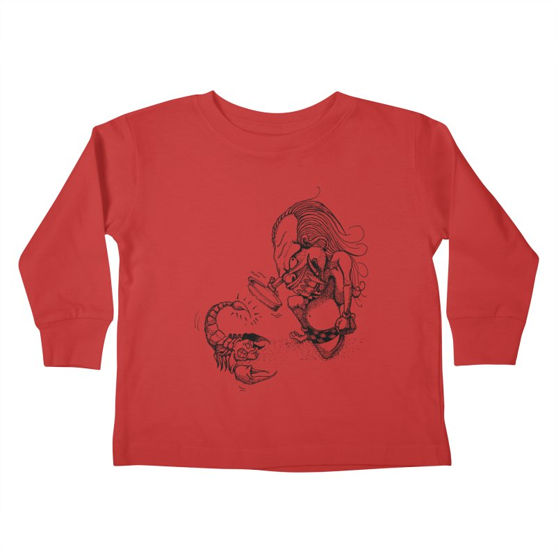 Celuluk Scorpio Kids Toddler Longsleeve T-Shirt by DuMBSTRaCK CLoTH iNK PROJECT