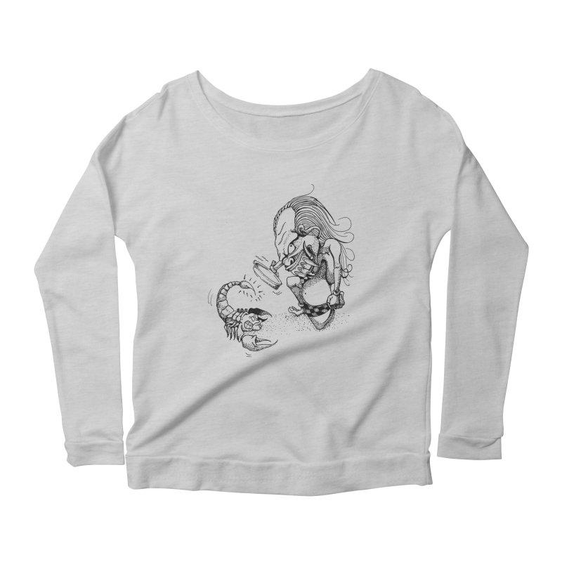 Celuluk Scorpio Women's Scoop Neck Longsleeve T-Shirt by DuMBSTRaCK CLoTH iNK PROJECT
