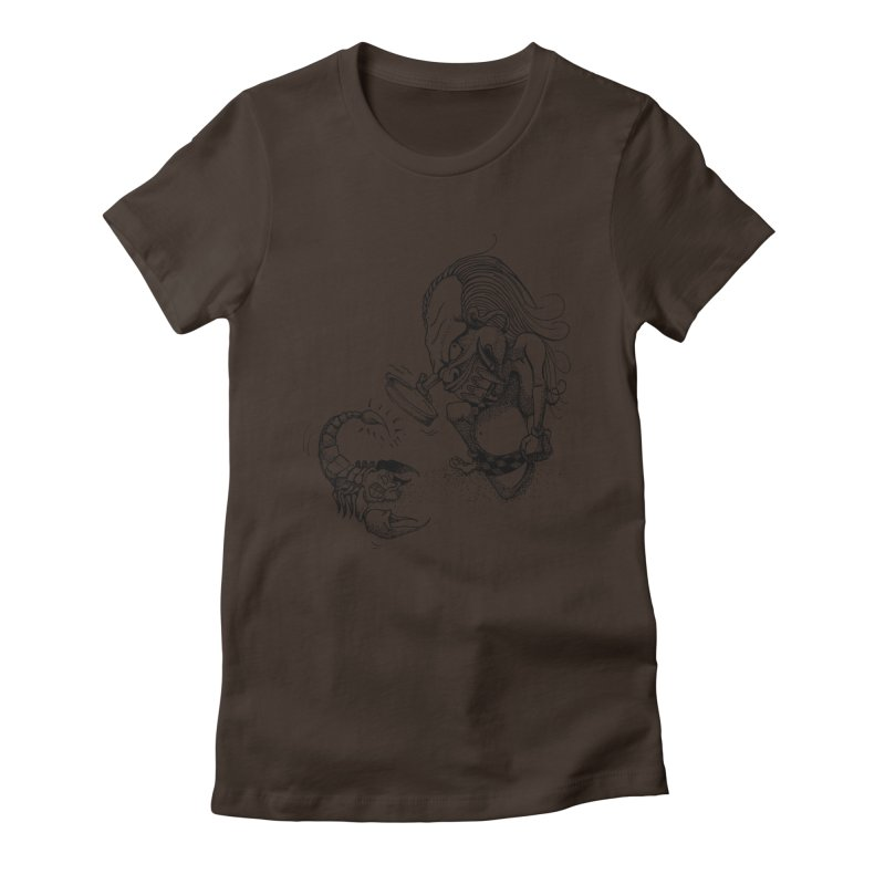 Celuluk Scorpio Women's Fitted T-Shirt by DuMBSTRaCK CLoTH iNK PROJECT
