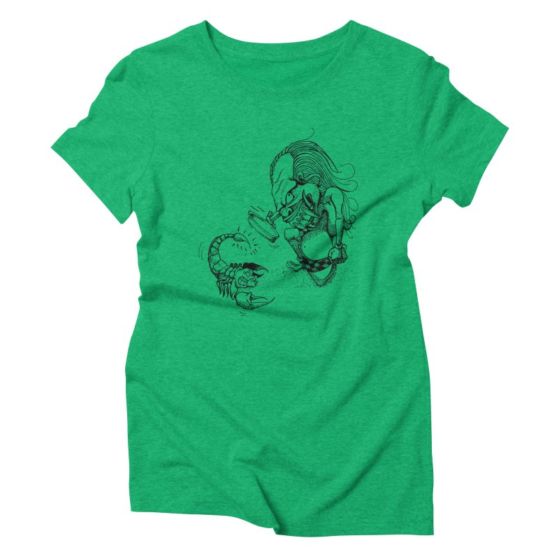 Celuluk Scorpio Women's Triblend T-Shirt by DuMBSTRaCK CLoTH iNK PROJECT