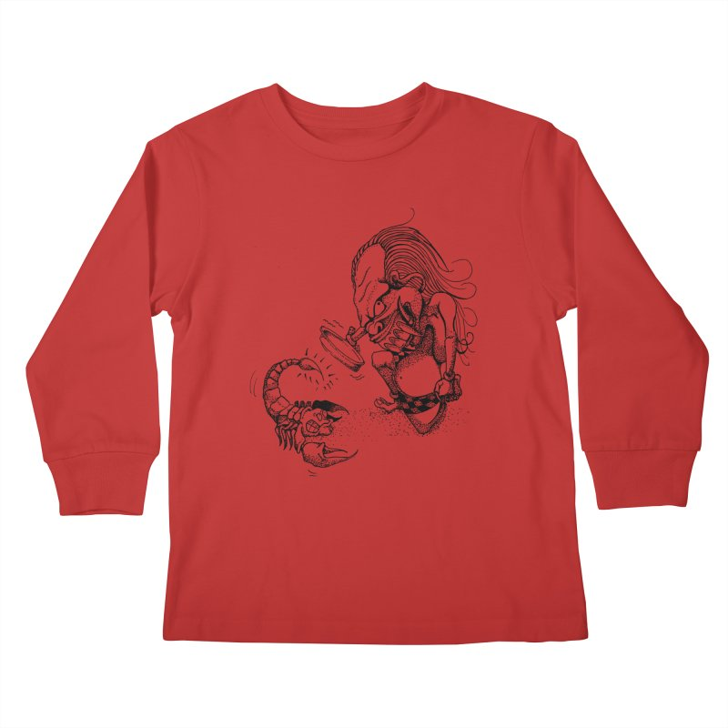 Celuluk Scorpio Kids Longsleeve T-Shirt by DuMBSTRaCK CLoTH iNK PROJECT