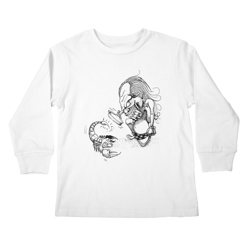 Celuluk Scorpio Kids Longsleeve T-Shirt by DuMBSTRaCK CLoTH iNK PROJECT