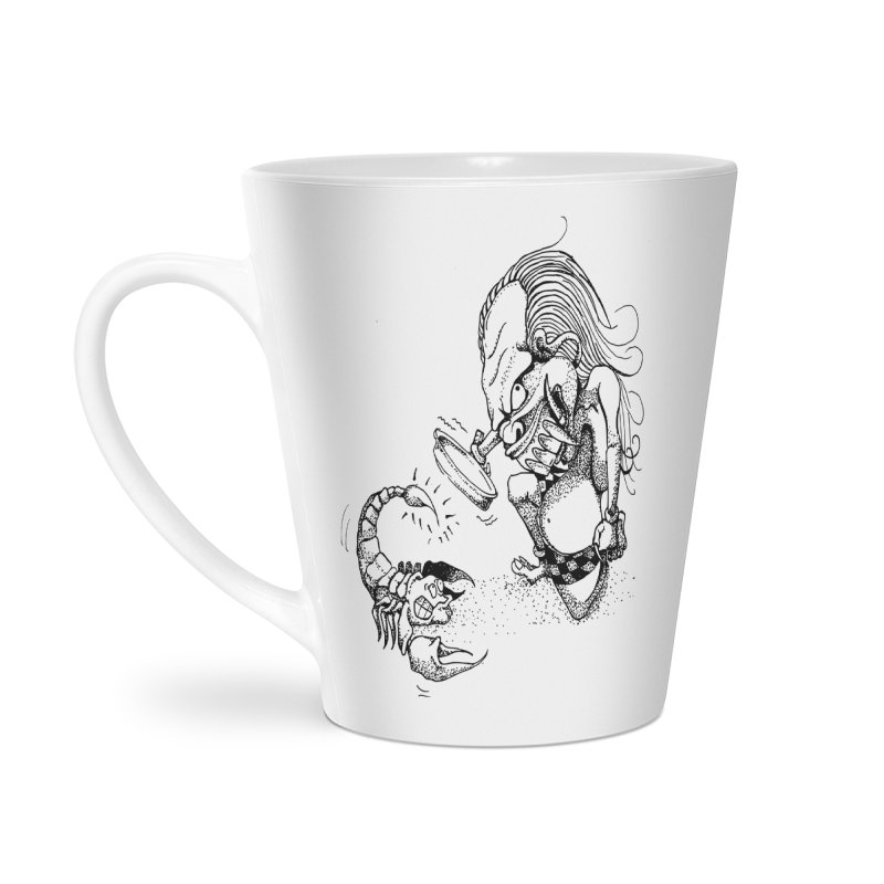 Celuluk Scorpio Accessories Latte Mug by DuMBSTRaCK CLoTH iNK PROJECT