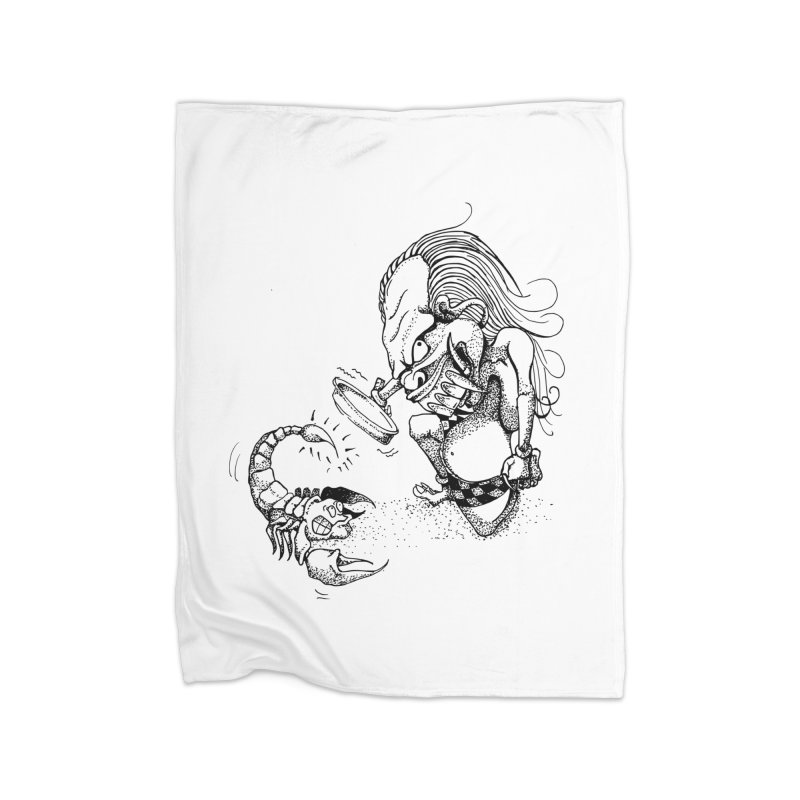 Celuluk Scorpio Home Fleece Blanket Blanket by DuMBSTRaCK CLoTH iNK PROJECT