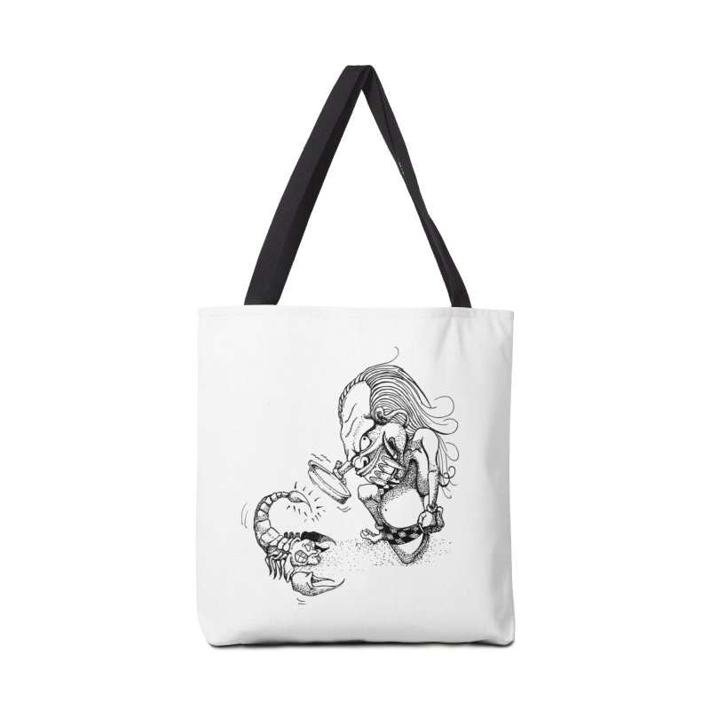 Celuluk Scorpio Accessories Tote Bag Bag by DuMBSTRaCK CLoTH iNK PROJECT
