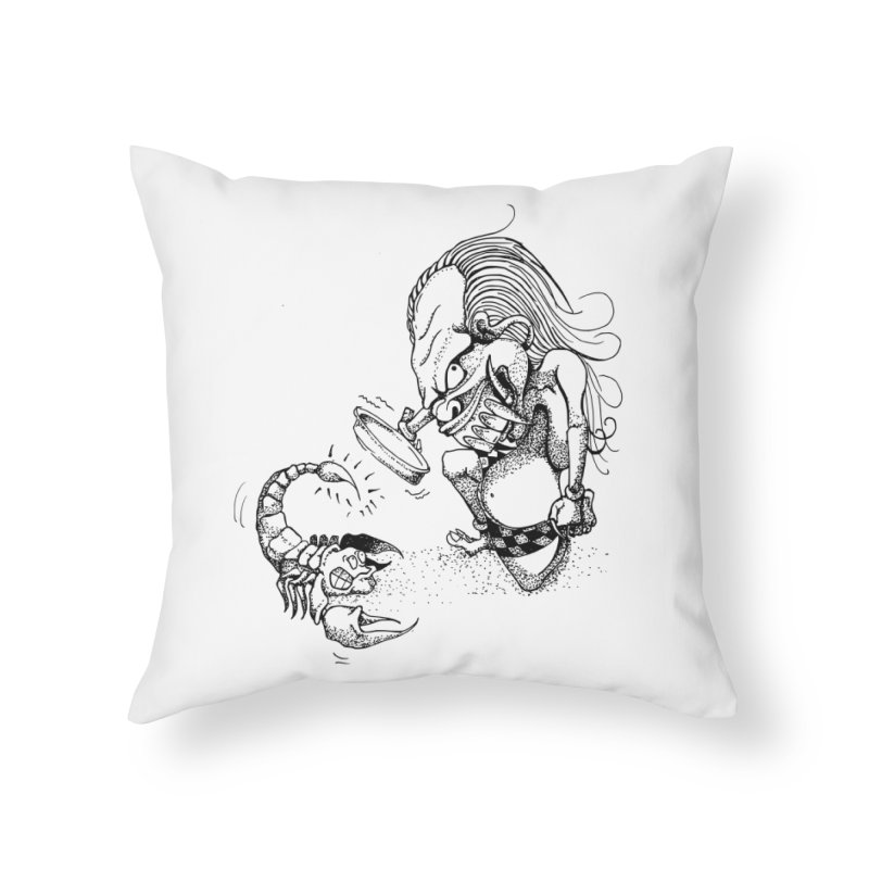 Celuluk Scorpio Home Throw Pillow by DuMBSTRaCK CLoTH iNK PROJECT