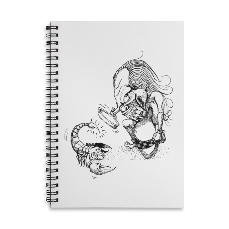 Celuluk Scorpio Accessories Lined Spiral Notebook by DuMBSTRaCK CLoTH iNK PROJECT