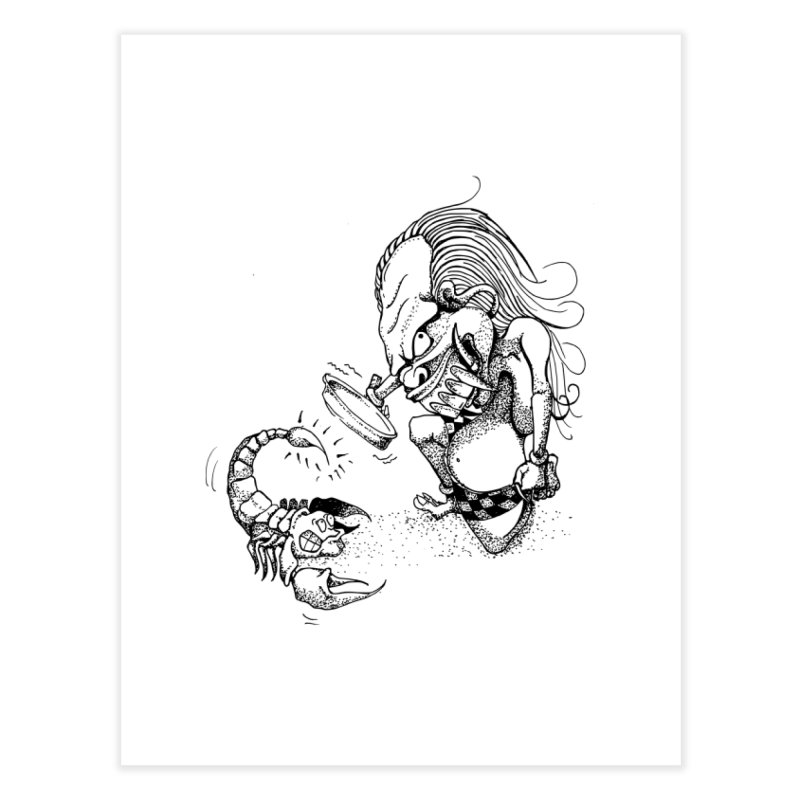 Celuluk Scorpio Home Fine Art Print by DuMBSTRaCK CLoTH iNK PROJECT