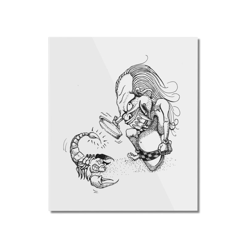 Celuluk Scorpio Home Mounted Acrylic Print by DuMBSTRaCK CLoTH iNK PROJECT