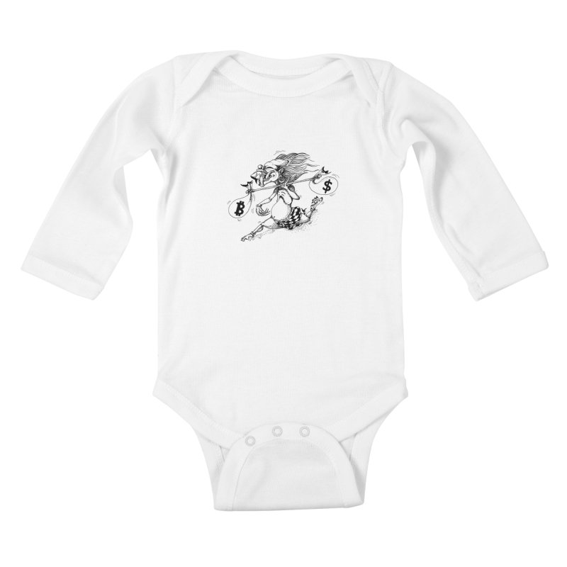 Celuluk Libra Kids Baby Longsleeve Bodysuit by DuMBSTRaCK CLoTH iNK PROJECT