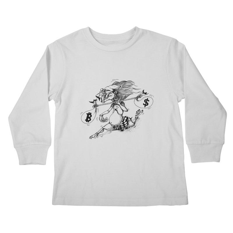 Celuluk Libra Kids Longsleeve T-Shirt by DuMBSTRaCK CLoTH iNK PROJECT