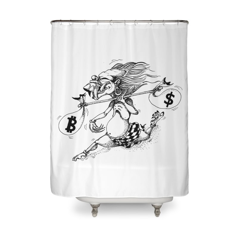 Celuluk Libra Home Shower Curtain by DuMBSTRaCK CLoTH iNK PROJECT