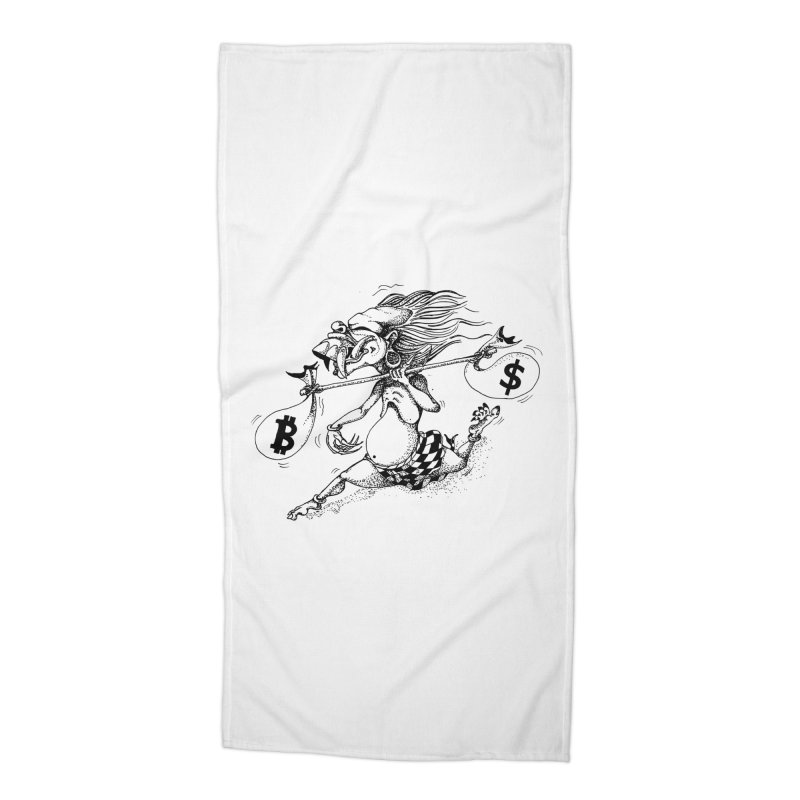 Celuluk Libra Accessories Beach Towel by DuMBSTRaCK CLoTH iNK PROJECT