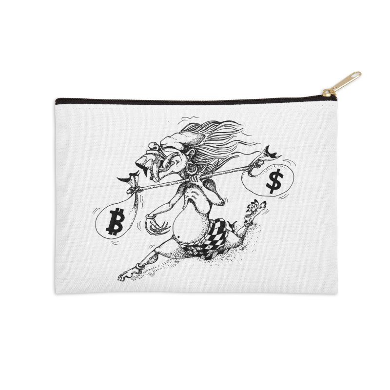 Celuluk Libra Accessories Zip Pouch by DuMBSTRaCK CLoTH iNK PROJECT