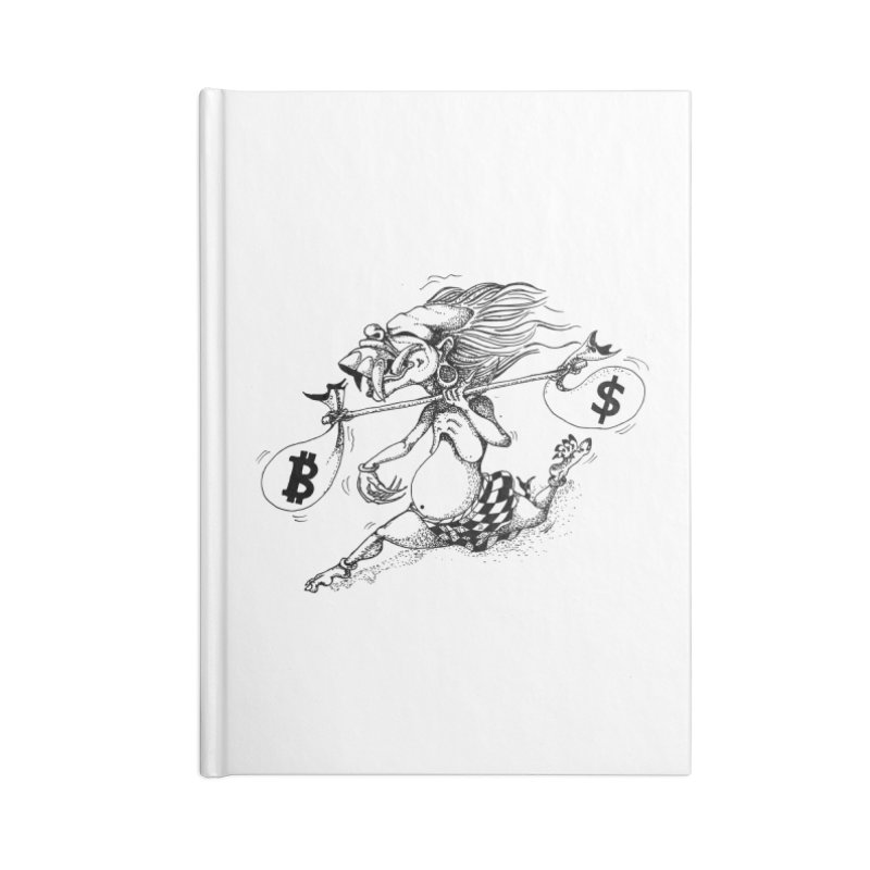 Celuluk Libra Accessories Blank Journal Notebook by DuMBSTRaCK CLoTH iNK PROJECT