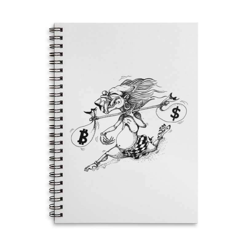 Celuluk Libra Accessories Lined Spiral Notebook by DuMBSTRaCK CLoTH iNK PROJECT