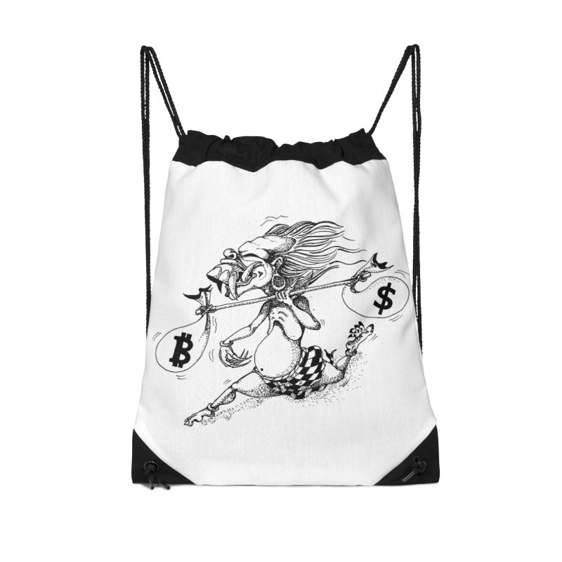 Celuluk Libra Accessories Drawstring Bag Bag by DuMBSTRaCK CLoTH iNK PROJECT