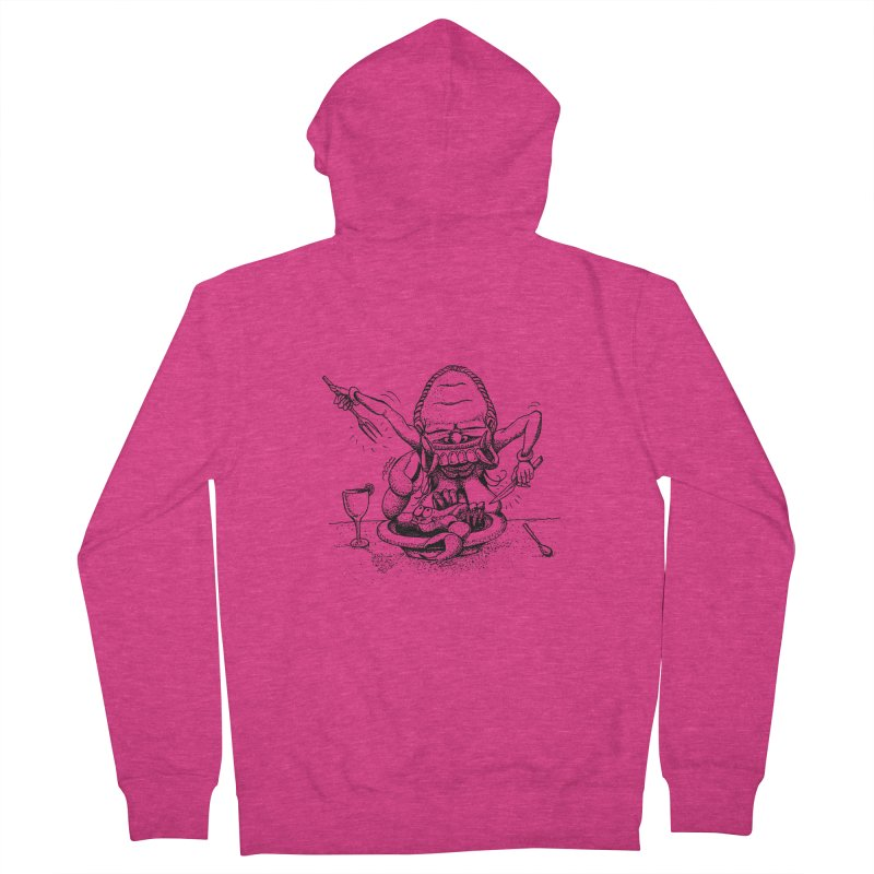 Celuluk Cancer Women's French Terry Zip-Up Hoody by DuMBSTRaCK CLoTH iNK PROJECT