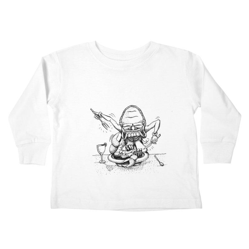 Celuluk Cancer Kids Toddler Longsleeve T-Shirt by DuMBSTRaCK CLoTH iNK PROJECT