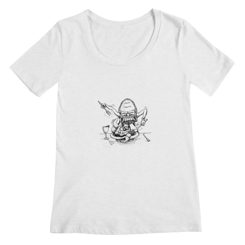 Celuluk Cancer Women's Scoop Neck by DuMBSTRaCK CLoTH iNK PROJECT