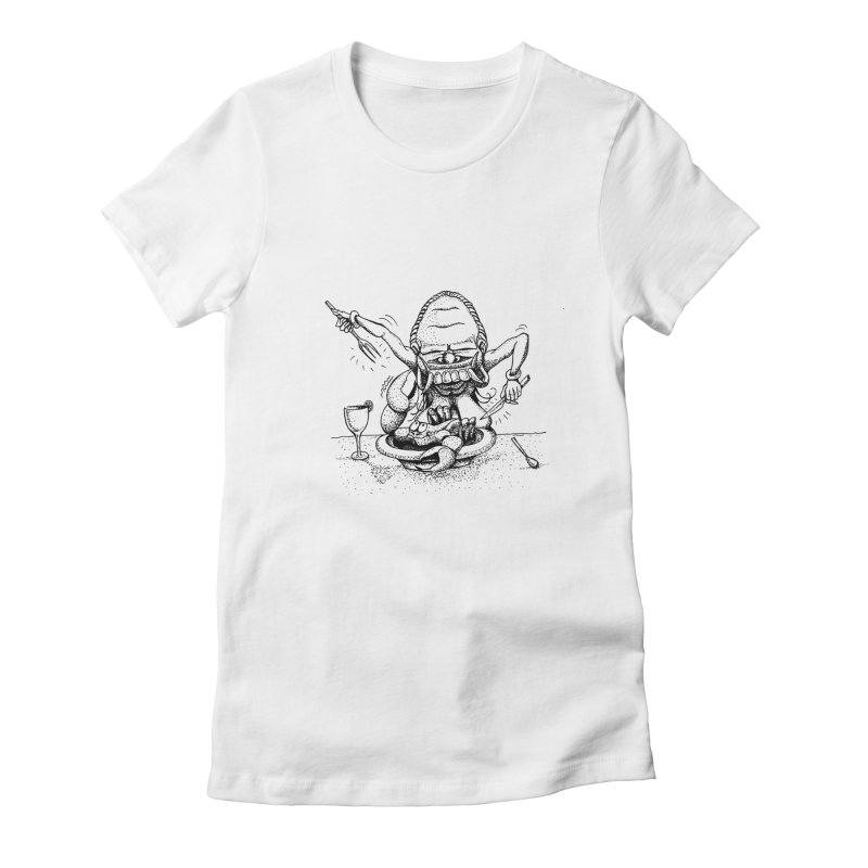 Celuluk Cancer Women's Fitted T-Shirt by DuMBSTRaCK CLoTH iNK PROJECT