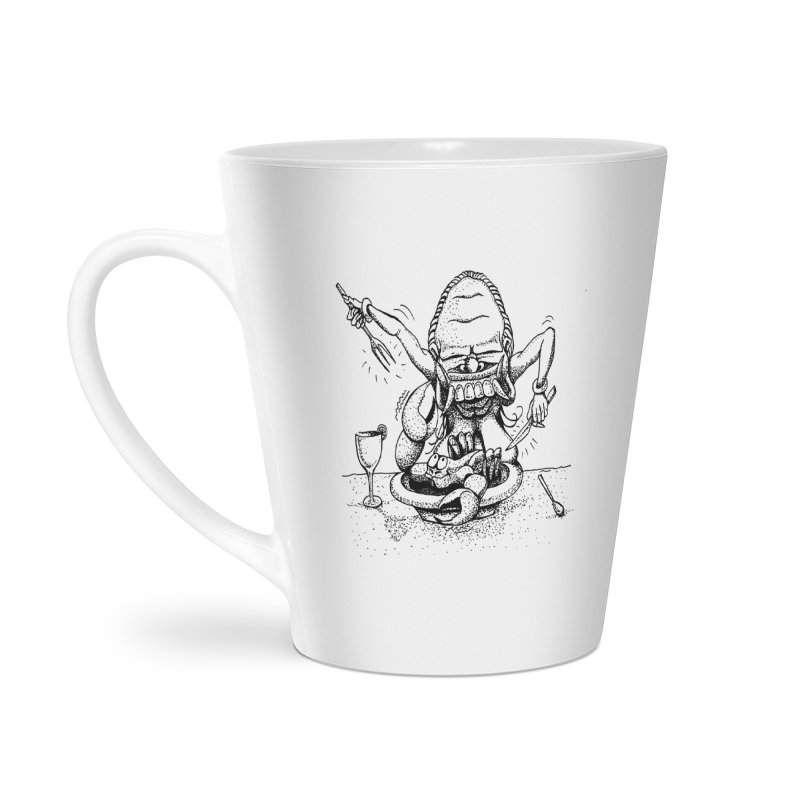 Celuluk Cancer Accessories Latte Mug by DuMBSTRaCK CLoTH iNK PROJECT