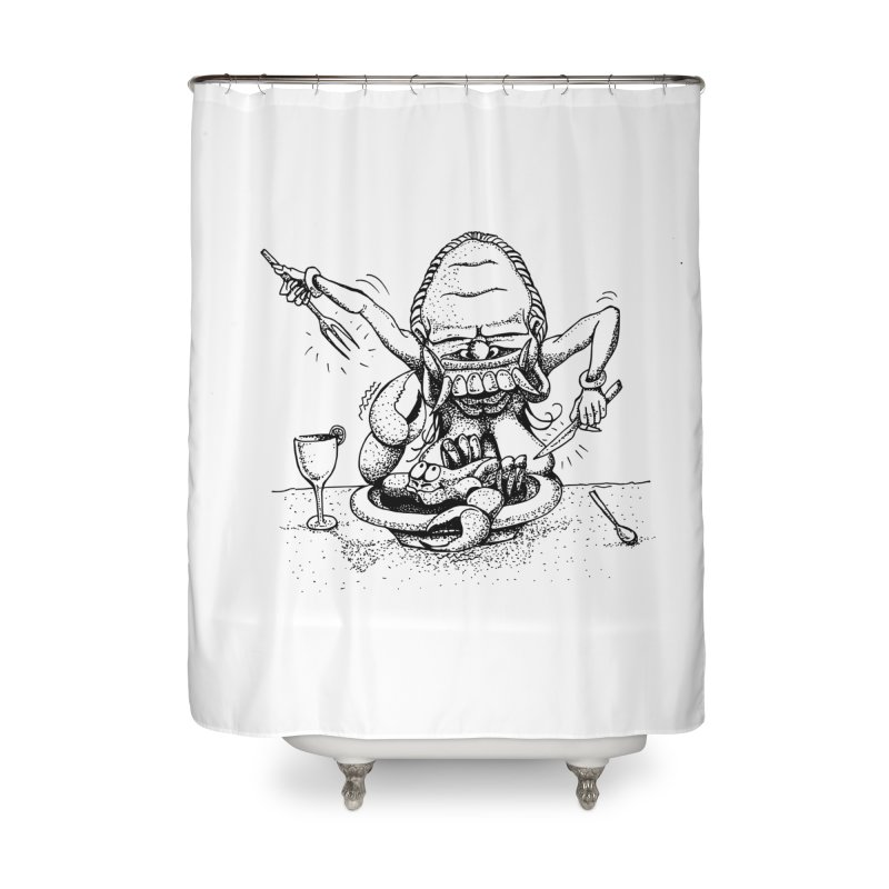 Celuluk Cancer Home Shower Curtain by DuMBSTRaCK CLoTH iNK PROJECT